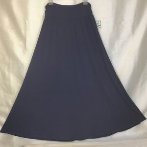 Style & Co Dark Blue Knit Maxi Skirt  Large